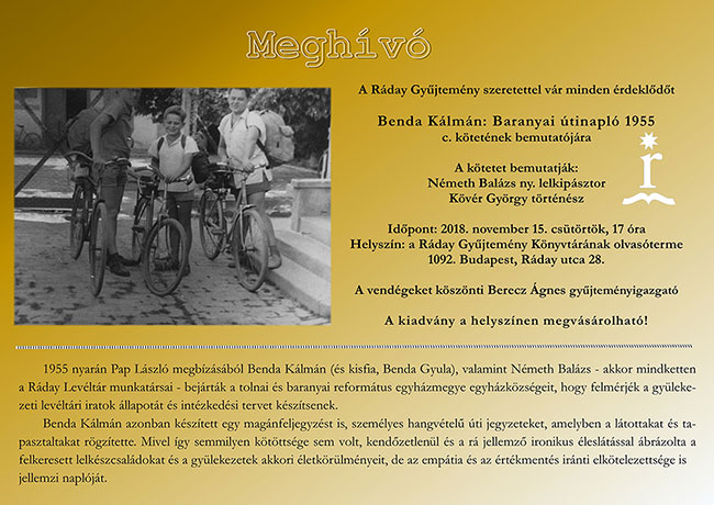 Benda Kálmán: Baranyai útinapló 1955